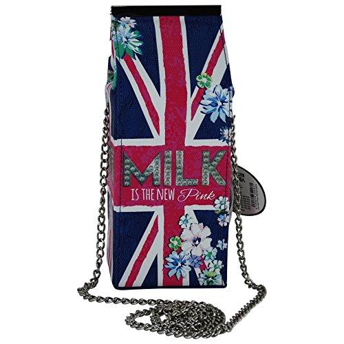 Pop Art Milk Paperboard Carton Sac pour Femme à l'épaule Baguette Clutch