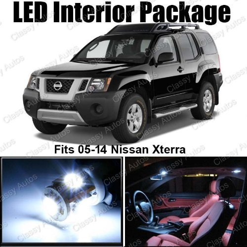 classy-autos-nissan-xterra-white-interior-led-package-8-pieces-by-classy-autos