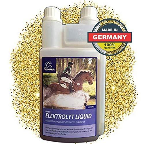EMMA Electrolytes pour Chevaux - Liquide - Aliment pour Chevaux I Compensation des pertes minérales après diarrhée I Liquide I Carence en électrolytes chez Les Chevaux de Sport I 1L