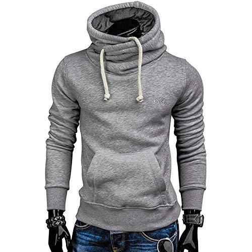 5428f5fb4d Hoodies Men Sweater Solid Sweatshirt Casual Tracksuit Slim Fit Men For Tour  XL Light Grey