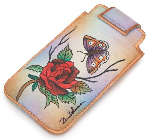 evidenza l iPhone Case/Custodia in vera pelle–Dipinto a mano Rose