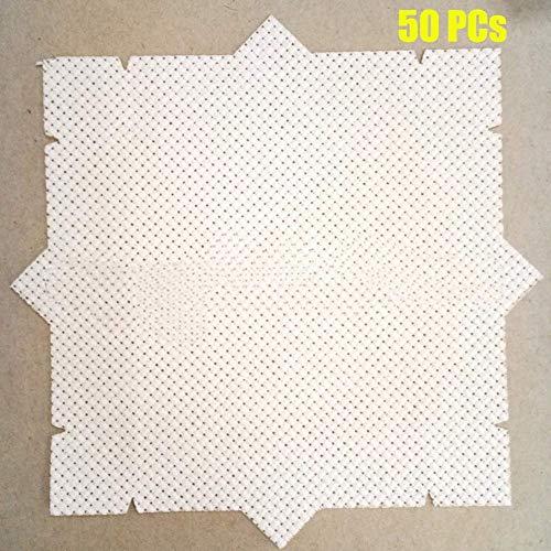 Tofover 50 Stück Aida-Tuch Kreuzstichstoff für Mini-DIY-Hoops