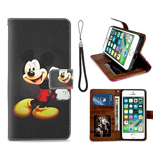 Apple iPhone 7 Plus et 8 Plus [5,5'] Coque Portefeuille Mickey Mouse Kids Cartoon Disney Defender