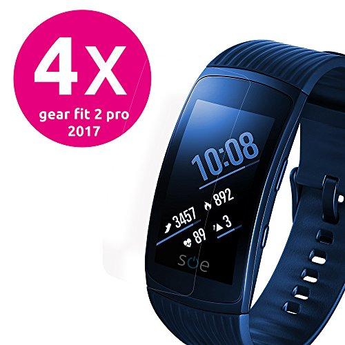 smart engineered Schutzfolie kompatibel mit Samsung Gear Fit 2 Pro [4 Stück] Premium Schu