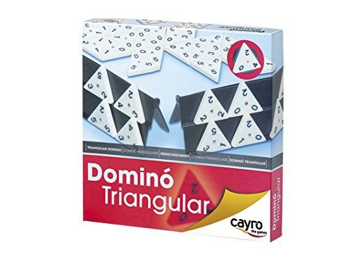 Cayro - Dominó triangular con 56 piezas (710) , Modelos/colores Surtidos, 1 Unidad