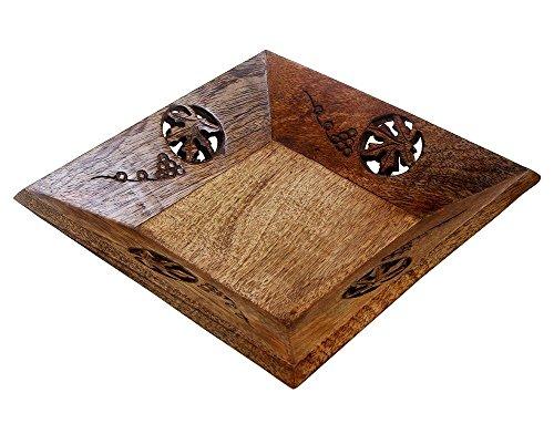 Nuovo anno i regali, Legno Vassoio carrello intagliato a mano con legno duro e di ferro Barre Serveware Accessori Cucina