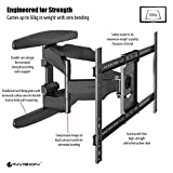 Invision Ultra Strong TV Wall Bracket Mount - For 37 - 70 Inch LED LCD Plasma & Curved Screens – Double Arm Tilt Swivel Feature – Includes 1080p HDMI Cable & Spirit Level *Please Confirm Your TV VESA Mounting Holes Before Purchase* (HDTV-DXL)