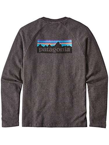 Herren Sweater Patagonia P-6 Logo LW Crew Sweater Black