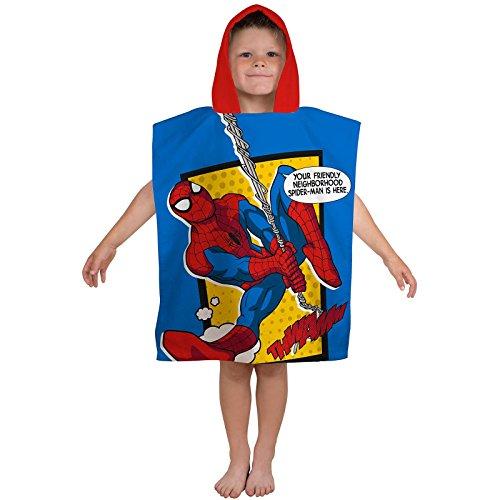 Spiderman webhead Poncho toalla con capucha