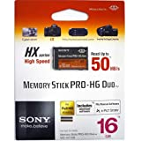 Sony Memory Stick PRO-HG Duo HX Memory Card - 16GB - High Speed 50MB/s