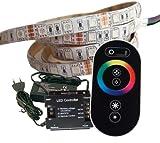 2 Meter RGB LED Streifen Set (60 LED/m, IP65) inkl. Controller, Funkfernbedienung und 3 A Netzteil
