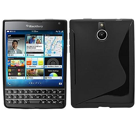 Samrick S Wave Coque de protection en hydrogel pour Blackberry Passport–Noir