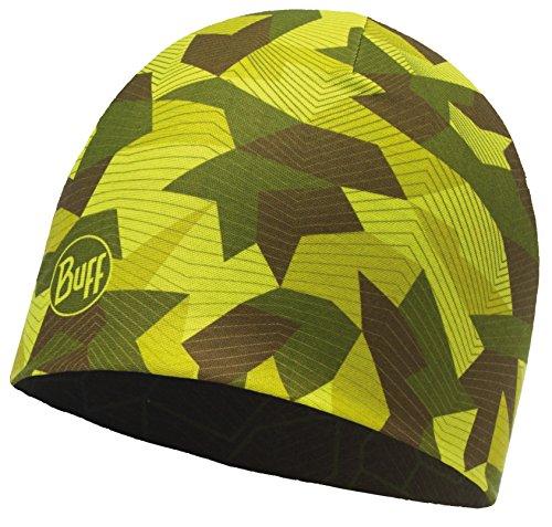 SET - BUFF® MICROFIBER REVERSIBLE HAT Mütze + UP® Ultrapower Schlauchtuch | Beanie | Logo | Atmungsaktiv | Geruchshemmend, Buff Design:CAMO GREEN - 115332.845.10.00 (Reversible Camo Beanie)