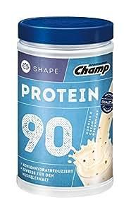 Champ Shape Protein 90 Eiweißshake, 24 g Protein pro Portion, Cookies & Cream, 390 g Portion