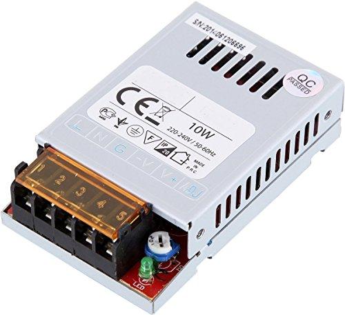Preisvergleich Produktbild LED Transformator 10W - 230V auf 12V im Metallgehäuse - LED geeignet - Mindestlast 1W max. 10W 0,8A