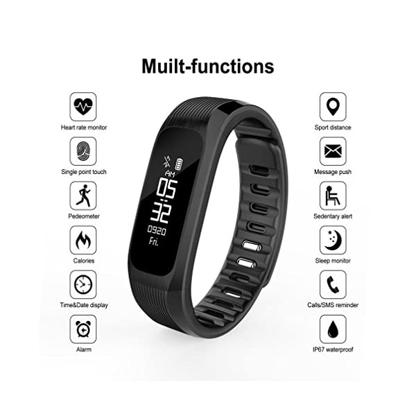 Fitness Tracker Smart Wrist Watch U Watch Phone Mate For IOS Android Vneirw UP9 087 Colour Display Sports Watch Smart Watch With Waterproof Heart Rate MonitorPedometerSleepCalorie