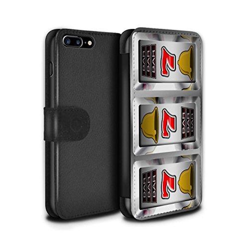 Stuff4 Coque/Etui/Housse Cuir PU Case/Cover pour Apple iPhone 7 Plus / Barres Design / Machine à Sous Collection Sept