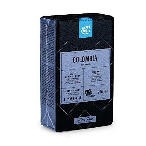 Amazon-Marke: Happy Belly Gemahlener Röstkaffee 'COLOMBIA' (4 x 250g)