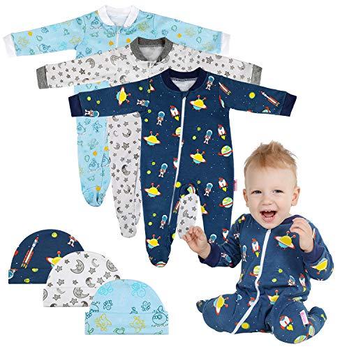 Lictin 6 Piezas Pijama Bebé- Mameluco Algodón Cremallera