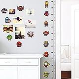 Wall sticker adesivo Supereroi metro altezza decorazione parete cameretta casa