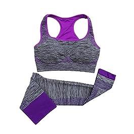 Top Aderenti Elastici Alti Leggings Set da Due Pezzi Set da Yoga da Jogging Huateng Tuta Sportiva Stampata Casual da Uomo