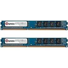 QUMOX 8GB (4GBx2) DDR3 1600MHz PC3-12800 DDR3 1600 (240 PIN) DIMM Desktop Memoria para computadora escritorio PC
