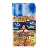 NEXCURIO Samsung Galaxy J3 / J3 (2016) Hülle Leder, Handyhülle Tasche Leder Flip Case Brieftasche Etui mit Kartenfach Stoßfest Kratzfest Schutzhülle für Samsung Galaxy J3 (2016) / J320 - NEHEX16539#7