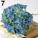 ypypiaol 1 Ramo De Flores Artificiales De Seda De Imitación Con Flores De Hortensias Y Decoraciones Para La Fiesta De Bodas Azul oscuro