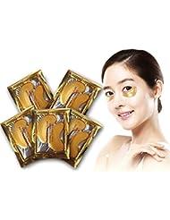 rose-summer Oro Crystal Colágeno Máscara de ojo hotsale Eye Parches 10pcs = 5unidades
