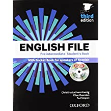 English file pre-intermediate Student´s Book + Printed Workbook with Key + Online Skills Practice, 3 Edition (English File Third Edition) - 9780194598934