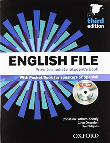 English file pre-intermediate Student´s Book + Printed Workbook with Key + Online Skills Practice, 3 Edition (English File Third Edition) - 9780194598934 por Clive Oxenden