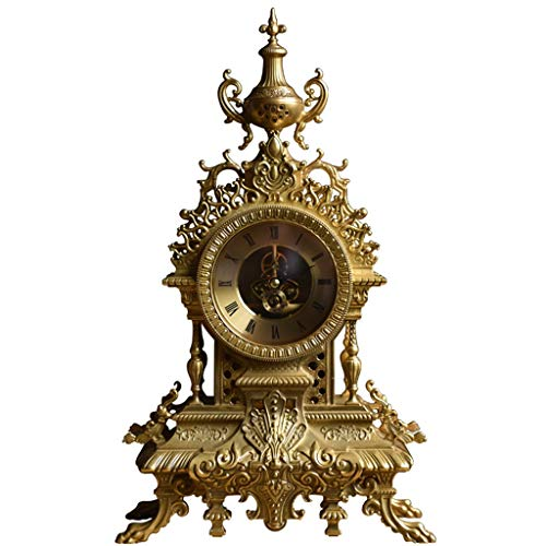 Tischuhren Bronze Exquisite Dekoration Europäischen Kreative Heimat Wohnzimmer Klassische Uhr Dekoration Kamin Uhr - Kamin Uhr