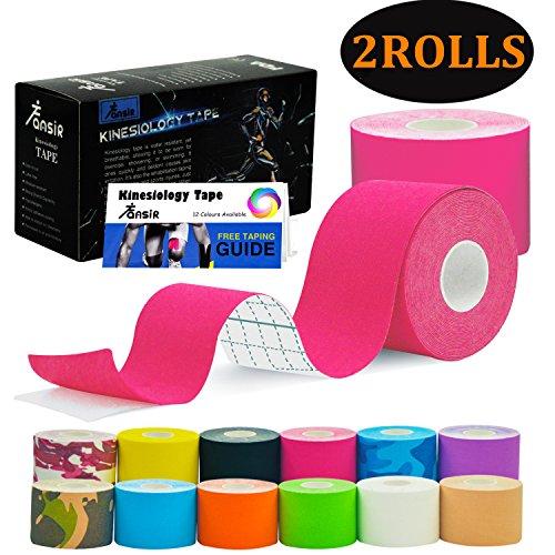 FANSIR Kinesiologie Tape Sporttape Kinesiotape Muskeln Tape Wasserdicht Tape