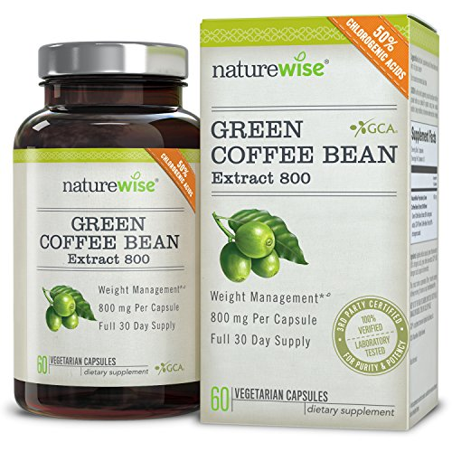 NatureWise Green Coffee Bean Extract 800 Fat Burner with GCA, 1600 mg Per Daily Serving, THE Highest Available on the Market Test