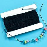 Schwarzes Gummiband - für Kinder zum Basteln für Perlenkunst und Schmuck - Spule mit 30 m