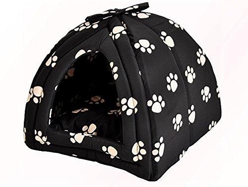 nanook-maison-niche-corbeille-pour-chat-chien-igloo-taille-s-34-x-34-x-30-cm-design-noir-avec-pattes