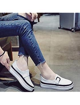 KPHY-Bizcocho solo zapatos gruesos hembra versión coreana de la elegante Kick traficando Lazy Bones zapatos niño...