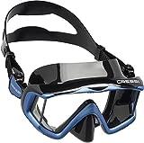 Cressi Liberty 3, Maschera per Immersioni, Apnea e Snorkeling, Disponibile in Versione Due/Tre Vetri Unisex Adulto, Nero/Blu, Taglia Unica