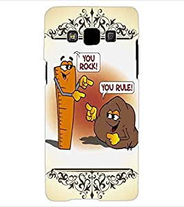 ColourCraft Funny Rock-Rule Design Back Case Cover for SAMSUNG GALAXY A3