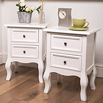 Bedside Tables Nightstands  Set of 2 Fully Assembled Stands Size- 34.5cm x & Bedside Tables Nightstands  Set of 2 Fully Assembled Stands Size ...