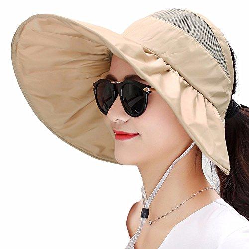 LOF-fei Donna Verano Sombrero para El sol Sombrero de paja plegable  Exterior Playa Ala 4dd960560ce1