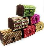 DAISYLIFE™ Handmade Bamboo Wooden Jewelry Box Organizer Storage Set | Home Decor Showpiece