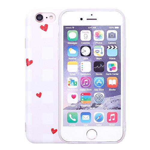 iProtect TPU Schutzhülle Apple iPhone 7, iPhone 8 Softcase Hülle Affen Emojis transparent Herzen rot