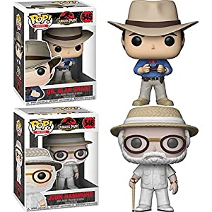 Funko POP Jurassic Park Dr Alan Grant John Hammond Vinyl Figure Set NEW