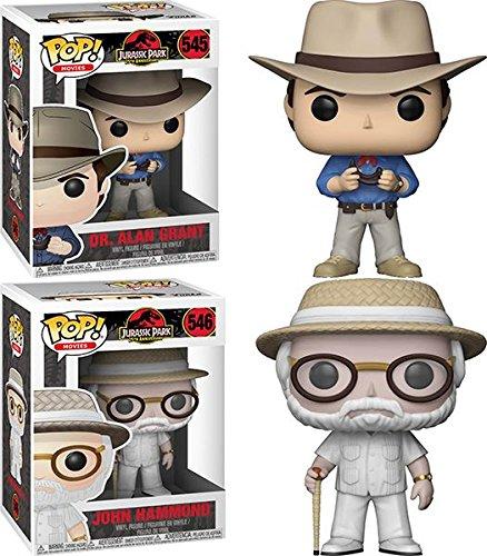 Funko POP Jurassic Park Dr Alan Grant John Hammond Vinyl Figure Set NEW