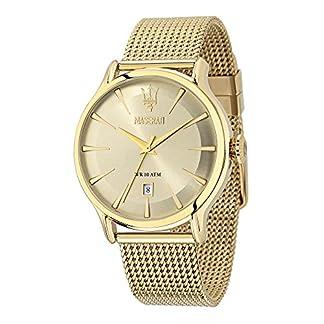 Reloj para Hombre, Colección Epoca, Movimiento de Cuarzo, Solo Tiempo con Fecha, en Acero, PVD Oro – R8853118003