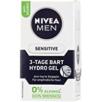 Nivea Men 3 días barba Hydro Gel, Cuidado de la Piel Sensible, 50 ml