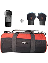 5 O' CLOCK SPORTS Gym Bag Combo Set Enclosed With Polyster Gym Bag With Shoe Compartment For Men For Men And Women... - B07B2XBXZ5
