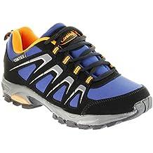 ConWay Sportschuhe Schwarz Blau Orange Softshell CONTEX Herren Damen Outdoor Schuhe Dakar, Farbe:Blau, Größe:43