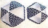 Set of 2 Large (Blue) Square Pop-up Mesh...